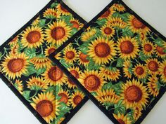 #ibhandmade Sunflower Pot Holders
