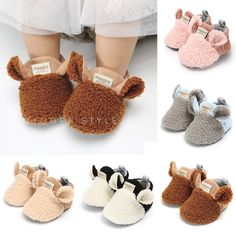 Winter Plush First Walkers Soft Sole Shoes Cute Baby Shoes, Baby Boy Shoes, Baby Boots, Boys Shoes, Baby Boy Outfits, Newborn Shoes, Crawling Baby, Baby Shoe Sizes, Baby Slippers