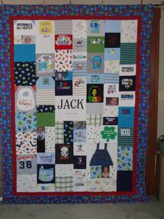 CUSTOM ORDERS for Patchwork Style Quilt made from baby clothes and your photos