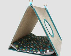 Cat house with cosy cushion Cat bed Cat teepee