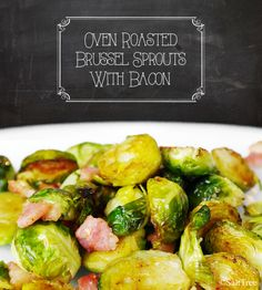 bacon roasted brussel sprouts -cook bacon, toss sprouts in bacon grease, roast 10 minutes. Roasted Brussel Sprouts Bacon, Brussels Sprouts, Paleo Recipes, Great Recipes, Cooking Recipes, Side Dish Recipes, Vegetable Recipes, Vegetable Side Dishes, I Love Food