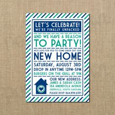 We've Moved New Home Housewarming Invitation by PerchedOwl, $14.00