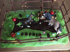Pferde-Geburtstagskuchen meiner Tochter. Inspiriert von diesem Dr. Oetker Rezept: https://www.oetker.de/rezepte/r/pferdekoppel-geburtstagskuchen.html