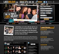 Website Design for Lads Holidays
