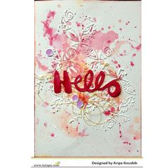 the Colour Press Watercolor Cards, Watercolour, Hello Design, Mix Media, Paper Crafts, Handmade, Pen And Wash, Watercolor Painting, Hand Made