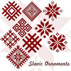 10 Slavic Ornaments - Nordic Sweater.  Knitting / ugly christmas sweater.  Snowflake