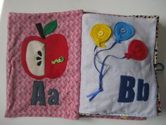 Alphabet ABC Quiet Book customized fabric by TheFruitfulVine