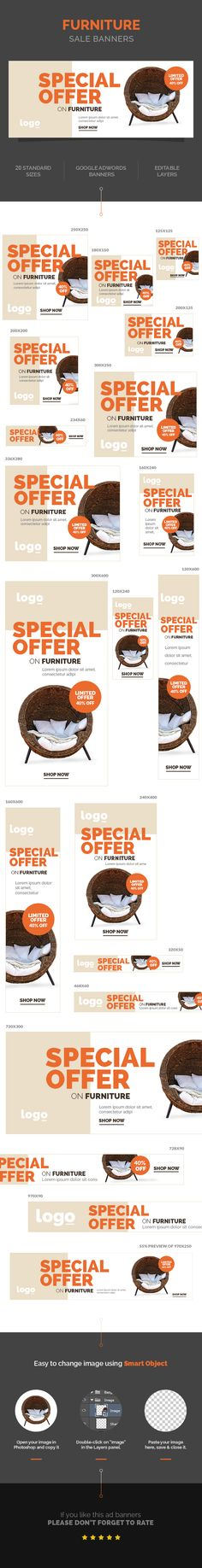 Furniture Sale Banners on Behance