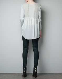 SWEATER WITH CHIFFON DETAIL AT THE BACK - Knitwear - Woman - ZARA United States