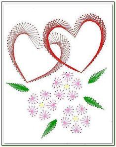 Сердце и цветы.