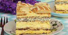 Słoneczna Latina to pyszne ciasto będące połączeniem kruchego ciasta z bezą i bakaliami, biszkoptu makowego oraz masy adwokatowej, biszkoptó...