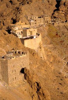 Klooster van St. Moses de Abessijn in Qaryatein, Syrie, 5e eeuw.