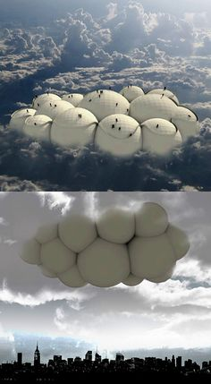 Cloud Travelling – WorldDrop Cloud Travelling Forghet about conventional ways and travel by artificial clouds. This is a interesting concept… Architecture Design, Cultural Architecture, Concept Architecture, Futuristic Architecture, Amazing Architecture, Futuristic City, Futuristic Technology, Small Apartment Design, Apartment Interior