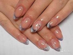 French nail design: 19 thousand images found . French Nail Designs, Cool Nail Designs, Christmas Nail Art, Holiday Nails, Nail Art Diy, Creative Nails, French Nails, Nail Inspo, Glitter Nails