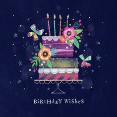 Leading Illustration & Publishing Agency based in London, New York & Marbella. Happy Birthday Art, Happy Birthday Wishes Cards, Happy Birthday Wallpaper, Birthday Wishes And Images, Birthday Blessings, Happy Birthday Pictures, 21 Birthday, Sister Birthday, Happy B Day