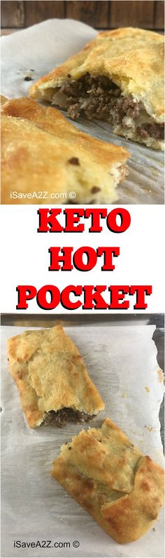 Keto Hot Pocket Dough Recipe cup Mozzarella cheese 5 tbs Butter (I love me some Kerrygold butter! Keto Foods, Ketogenic Recipes, Keto Snacks, Paleo Recipes, Low Carb Recipes, Cooking Recipes, Ketogenic Diet, Ketogenic Breakfast, Low Carb Bread