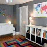 Name: Vivien Location: Somerville, Massachusetts I really wanted Vivien's room to be colorful and playful, but fun and stylish at the same time. After all, for the first few years anyway, we'll be spending more time noticing the decor than she does.