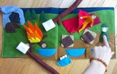 Camping Quiet Book Page! by carmella