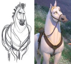 One of the main goals of the animators was to create movement that mimicked the soft fluidity of the hand-drawn art found in older Disney animated films. Tangled Concept Art, Disney Concept Art, Disney Art, Character Concept, Character Art, Character Design, German Fairy Tales, Drawn Art, Hand Drawn