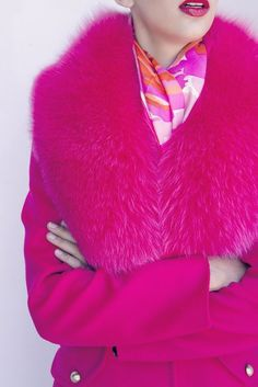 Surround yourself with beauty. Pink Fashion, Couture Fashion, Fashion Outfits, Fashion Trends, Pink Love, Pretty In Pink, Hot Pink, Pink Wool Coat, Everything Pink