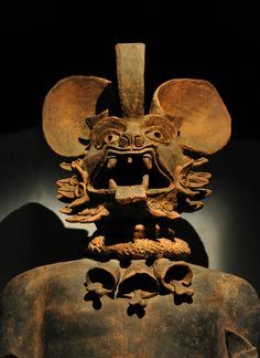 The Bat God Mexico by Ilhuicamina on Flickr.  This large ceramic figure of a Bat God dates to around AD 700 and was found near Chalco near Mexico City. Museo del Templo Mayor, Mexico City