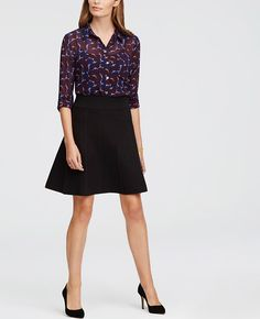 """The perfect mix of fit and flare, our endlessly versatile sweater skirt is a wardrobe must. Encased elastic waistband. 20 1/2"""" long."""