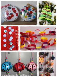 40 bricolages de Noël pour patienter |La cour des petits http://www.lacourdespetits.com/bricolages-noel-enfants/