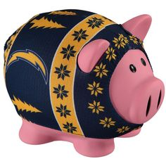Los Angeles Chargers Busy Block Sweater Pig Bank