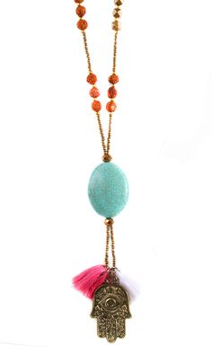 img_8045 Stone Necklace, Tassel Necklace, Aqua, Clothing, Animals, Jewelry, Outfit, Animales, Jewellery Making