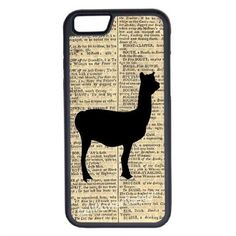 CellPowerCasesTM Llama Dictionary iPhone 6 (4.7) V1 Black Case ($9.98) ❤ liked on Polyvore featuring accessories, tech accessories and black