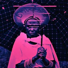 The cover art for King Britt's Afrofuturism mix.