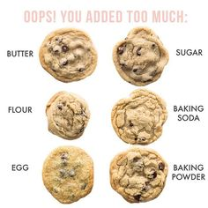 Healthy Recipes A handy guide for troubleshooting your cookies! *Swipe for more tips :) .Plus, if you like how one - Health and Nutrition Baking Flour, Baking Soda, Cookies Banane, Perfect Cookie, Snacks, The Ranch, Hobbit, Cookie Recipes, Dessert Recipes
