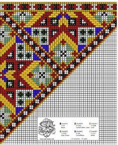 Belte til bringeklut 62 Cross Stitch Borders, Cross Stitch Charts, Cross Stitch Designs, Cross Stitch Patterns, Bead Loom Patterns, Craft Patterns, Beading Patterns, Folk Embroidery, Cross Stitch Embroidery