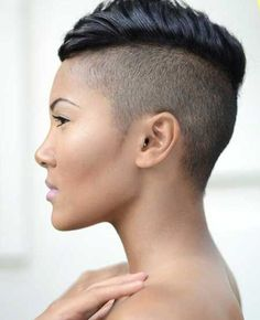 4 Abundant Clever Hacks: Women Hairstyles Highlights Layered Bobs pixie hairstyles for girls.Women Hairstyles Undercut Awesome older women hairstyles red. Short Hair Mohawk, Mohawk Hairstyles For Women, Undercut Hairstyles, Short Undercut, Shaved Hairstyles, Black Hairstyles, Wedge Hairstyles, Braided Hairstyles, Pixie Mohawk