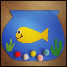 Deep in the blue sea...is our goldfish in a bowl craft for preschool storytime here @ Alamitos library.