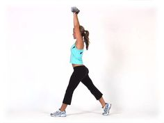 Static Lunge with Shoulders Press - Diet.com Exercise Demo