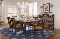 Sala decorada com estilo inglês