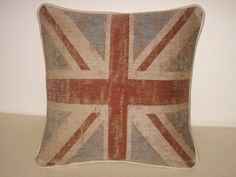 Large cushion in a fabulous muted union jack fabric