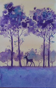 Stag | Original painting of a stag in a forest done in a sty… | Flickr