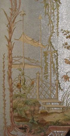 in the Hermitage, the walls are decorated with panels of the Winter Palace in Oranienbaum China.