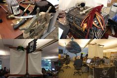 office cubicle pirate ship - Google Search Pirate Halloween Decorations, Halloween Cubicle, Halloween Party Themes, Halloween Ideas, Pirate Theme, Pirate Party, Cool Office, Office Decor, Office Cubicle