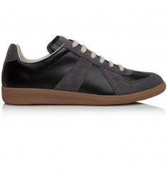 MAISON MARTIN MARGIELA BLACK LEATHER REPLICA TRAINER. Black. £295.00 Designer Trainers, Designer Clothes For Men, North London, Online Fashion Stores, London Fashion, Fashion Forward, Black Leather, Pairs, Sneakers