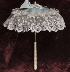 antique french doll accessories | Small parasol for fashion doll
