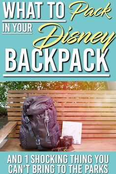 What to Bring to Disney World Parks & One Thing You Can't Bring. Here is a list of the item you should have in your backpack for your day in Disney World and the 1 thing you can't bring Packing List For Disney, Disney World Packing, Disney World Secrets, Disney World Vacation Planning, Disney World Parks, Disney Planning, Disney World Tips And Tricks, Disney Tips, Disney World Resorts