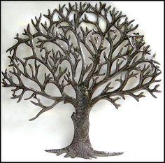 Natural Metal Tree Wall Art Decoration Ideas: Metal Tree Wall Art