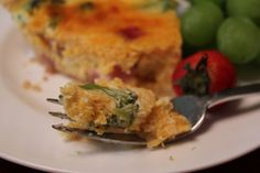 Light Summer Quiche - This simple quiche is easy to assemble, and makes a light meal -- perfect for the summer! Choose your ingredients (Broccoli and ham are featured here!). Double the recipe and freeze the second for dinner later in month! From SimpleSolutionsDiva.com.