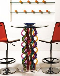 glass bar table and chairs