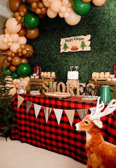 """Happy Camper"" Rustic Camping Birthday Party – Lisa Trueheart – ""Happy Camper"" R… ""Happy Camper"" Rustic Camping Birthday Party – Lisa Trueheart – ""Happy Camper"" Rustic Camping Birthday Party Kara's Party Ideas ""Happy Camper"" Rustic Camping Birthday Party Christmas Birthday Party, Adult Birthday Party, 1st Boy Birthday, Birthday Party Decorations, First Birthday Camping Theme, Camping Party Decorations, Circus Birthday, Circus Party, Birthday Celebration"