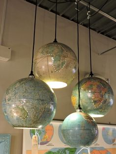 Repurposed Upcycled Glob Hanging Pendants - Small and Large Available - Sm. Item #797 - $175 - Lg. Item #354 - $195