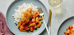 ✔PLATED  Pan-Roasted Chicken with Dried Apricots, Currants, and Carrots  This pan-roasted chicken is one of our favorites because it embodies everything we want in a weeknight dinner: ease and delicious nourishment. It's the kind of meal that makes cooking a joy.    YIELD 2 TOTAL TIME 40 minutes CATEGORIES main course, chicken